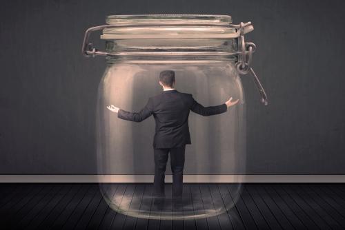 Man in Jar